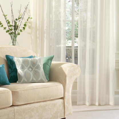 Anais - Marble, Eyelet Voile Curtains