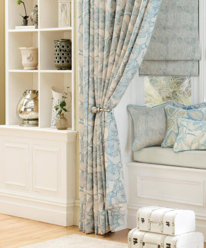 Cecily - Duck Egg, Pinch Pleat Curtains