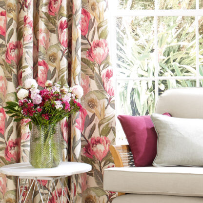Protea Blossom, Ruby - Curtains