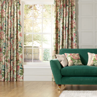 King Protea - Rhodera, Pinch Pleat Curtains