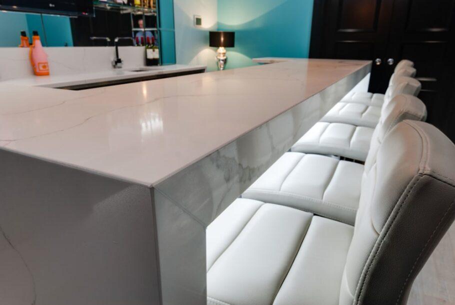 Basement Bar Table - Itastone Calacatta Quartz