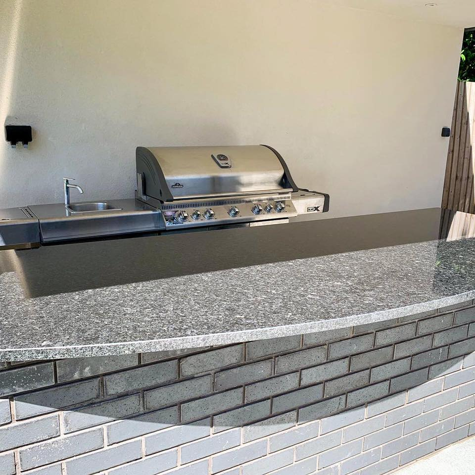 30mm Angolan Black Granite BBQ Area