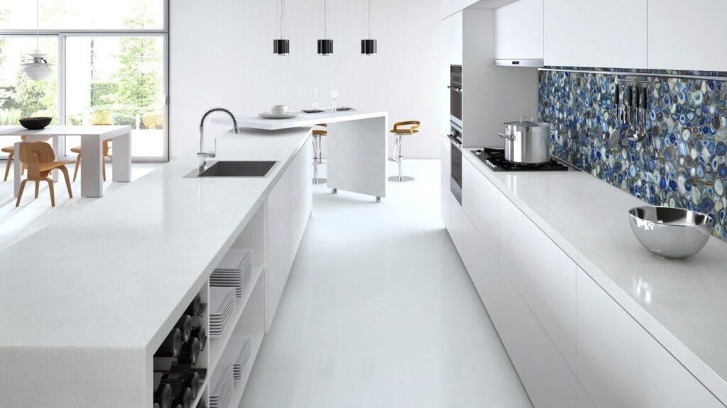 kitchen backsplash Caesarstone