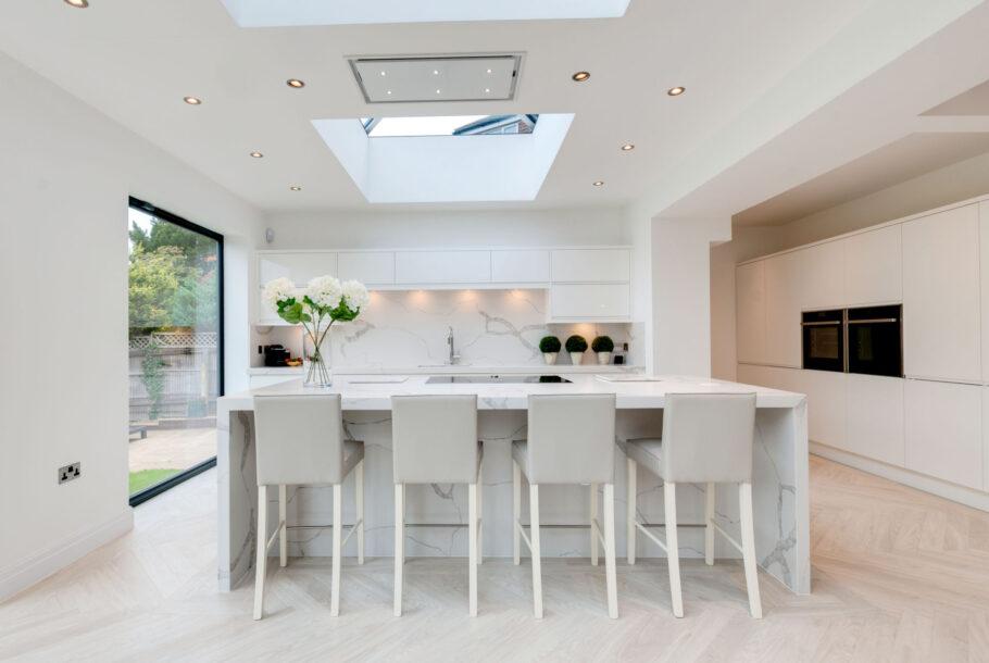 White Granite Kitchen Design