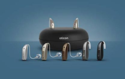 Oticon Ruby styles and charger BTE RIC