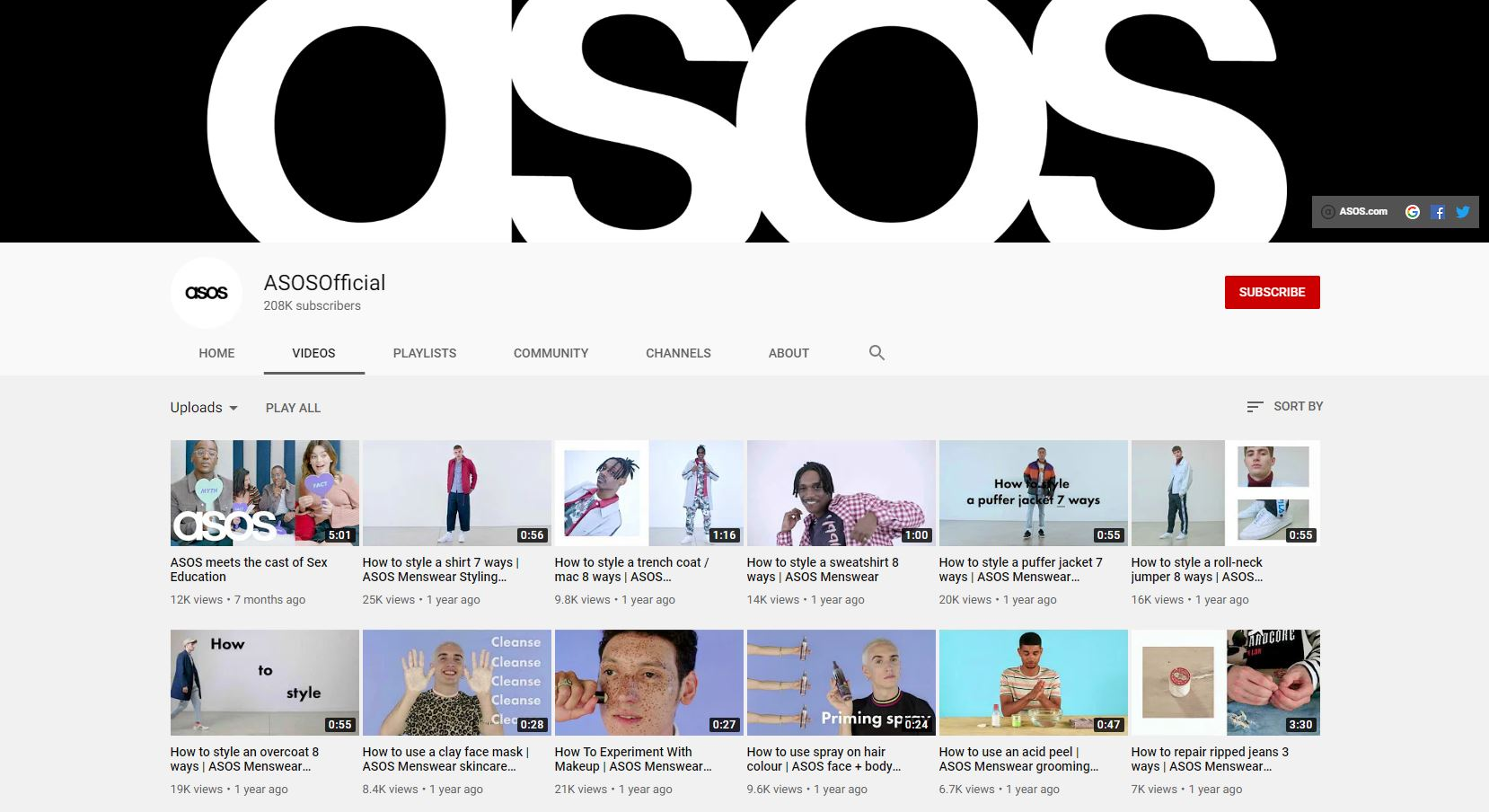 ASOS YouTube
