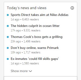 LinkedIn trending