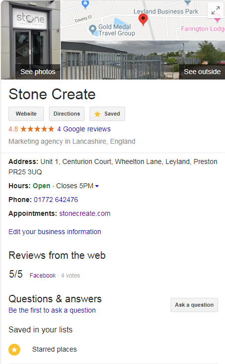 stone create google my business