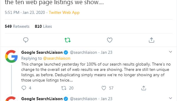 Google SEO tweets