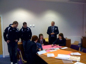 Neil Lathwood with students at the IT Diploma day