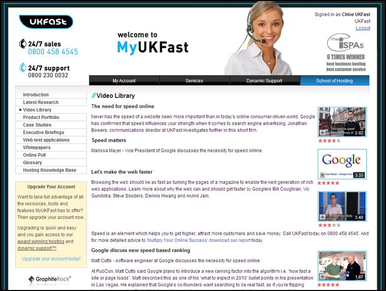 MyUKFast Demo Account