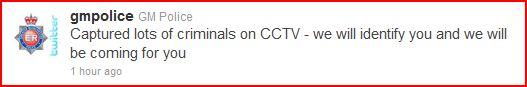 GM police tweet manchester riots