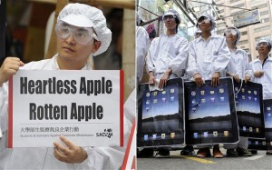 Protests outside Apple supplier