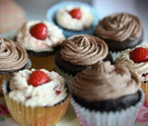 UKFast Bake Off cupcakes