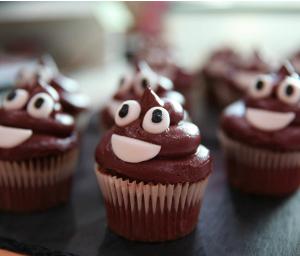 UKFast Bake Off emoji poo