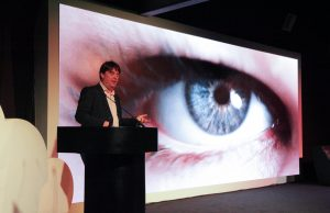 Graham Cluley at UKFast Campus for Unlocked Manchester cybersecurity conference