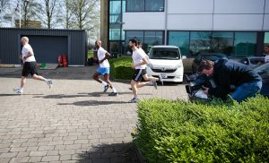 UKFast runner on the BBC