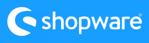 Shopware Logo White On Blue